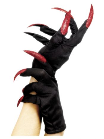 Halloween Gloves, Black
