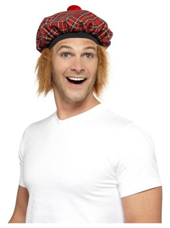 Tam-O-Shanter Tartan Hat, Red