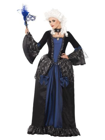 Baroque Beauty Masquerade Costume, Black