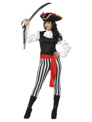 Pirate Lady Costume, with Top, Black