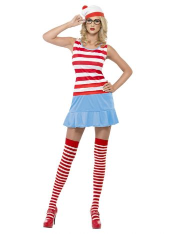 Where's Wenda? Cutie Costume, Red & White
