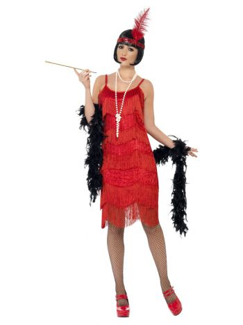 Flapper Shimmy Costume, Red