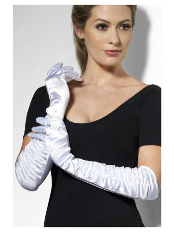 Temptress Gloves, White