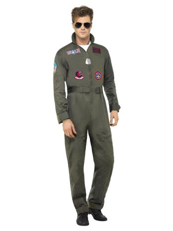 Top Gun Deluxe Male Costume, Green