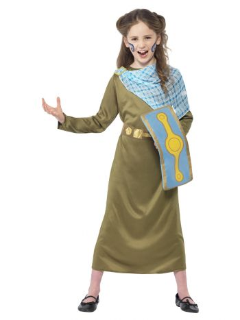 Horrible Histories Boudica Costume, Green
