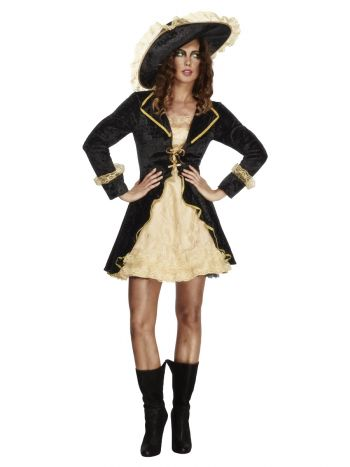 Fever Swashbuckler Costume, Black
