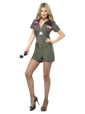 Top Gun Aviator Costume, Green