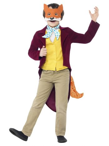 Roald Dahl Fantastic Mr Fox Costume, Burgundy
