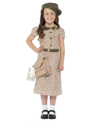 Evacuee Girl Costume, Patterned