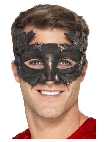 Warrior God Metallic Masquerade Eyemask, Black
