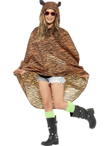 Tiger Party Poncho, Tiger Print
