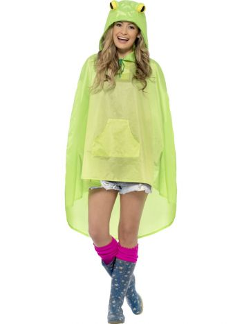 Frog Party Poncho, Green