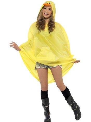 Duck Party Poncho, Yellow