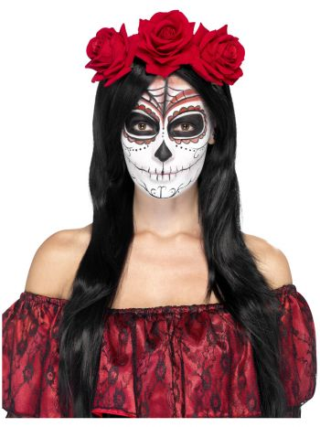 Day of the Dead Headband, Red