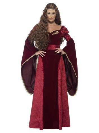 Deluxe Medieval Queen Costume, Red