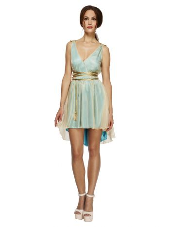 Fever Grecian Queen Costume, Blue