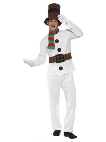 Mr Snowman Costume, White