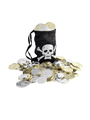Pirate Coin Bag, Black