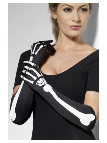 Skeleton Gloves, Black