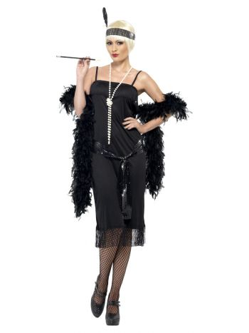 Flapper Costume, Black