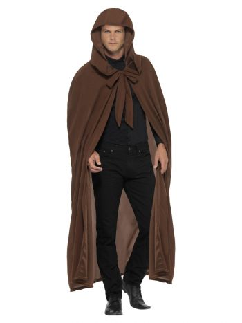 Gravekeeper Hooded Cloak, Brown