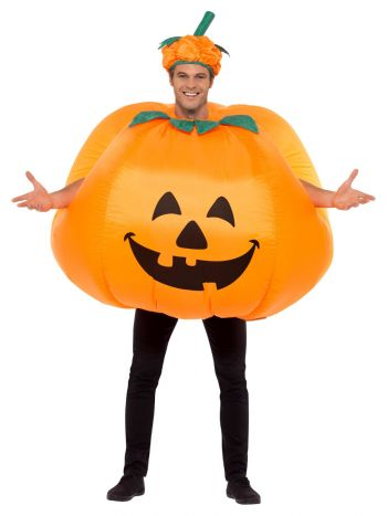Pumpkin Inflatable Costume, Orange