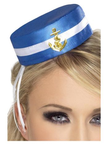Fever Pill Box Sailor Hat, Blue