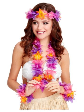 Hawaiian 4 Piece Set, Multi-Coloured