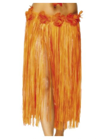 Hawaiian Hula Skirt, Orange