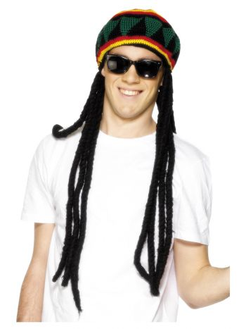 Rasta Beret, Black & Yellow