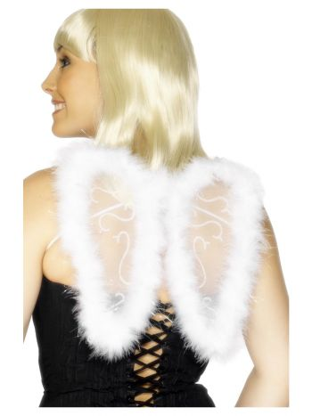 Mini Glitter Wings, White