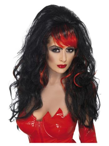 Seductress Wig, Black