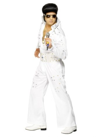 Elvis Costume with Jewels, White