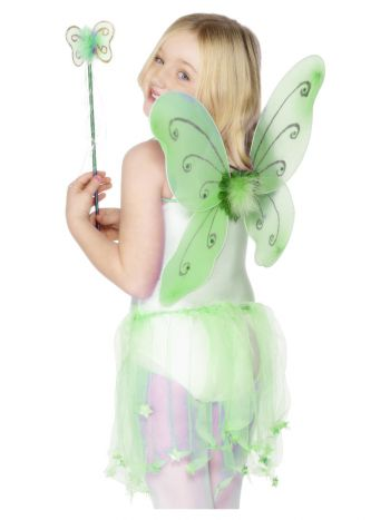 Butterfly Wings & Wand, Green