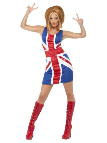 Ginger Power, 90s Icon Costume, Union Jack