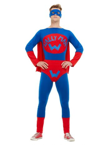 Wallyman Costume, Blue & Red