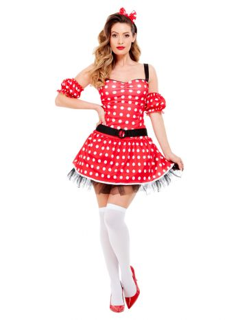 Madame Mouse Costume, Red