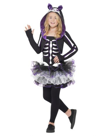 Skelly Cat Costume, Black