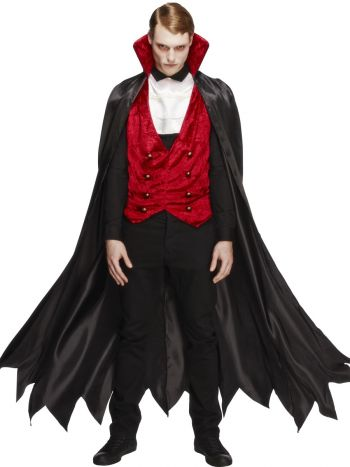 Fever Vampire Costume, Black & Red