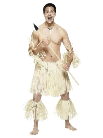 Zulu Warrior Costume, Cream
