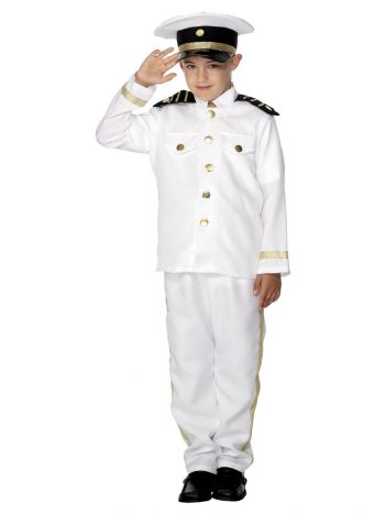 Captain Costume, Child, White
