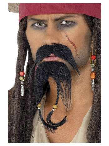 Pirate Facial Hair Set, Black