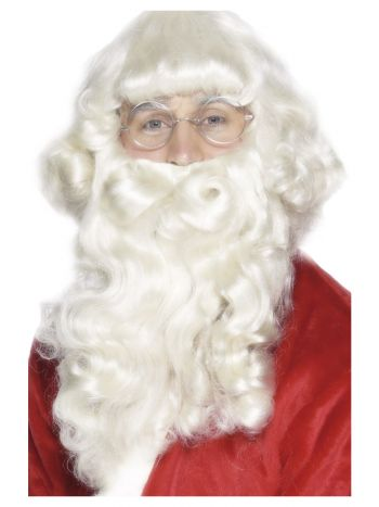 Santa Wig and Beard Set, White