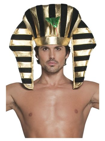 Pharaoh Headpiece, Black & Gold