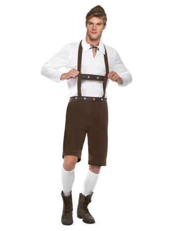 Bavarian Man Costume, Brown