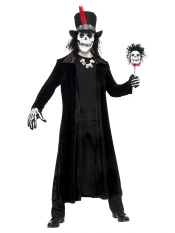 Deluxe Voodoo Man Costume, Black
