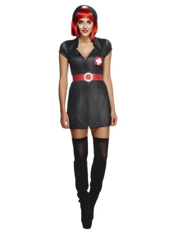 Fever Nurse Have Mercy Costume, Black