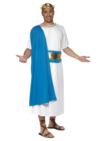 Roman Senator Costume, Blue & White