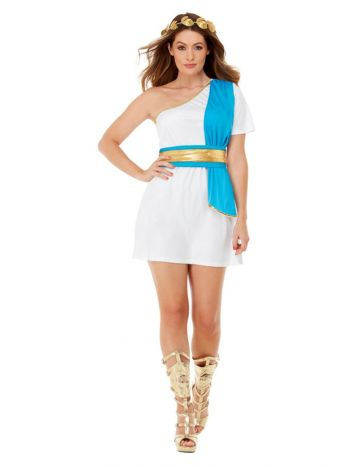 Roman Beauty Costume, Blue & White