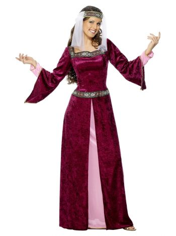 Maid Marion Costume, Burgundy